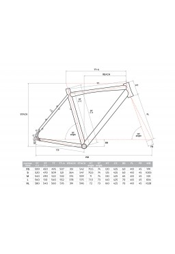 ACCENT CX-ONE Cyclocross Bike Frame graphite-white Size M (54cm)
