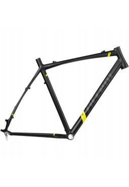 ACCENT ACCENT CX-ONE PRO DISC Cyclocross Bike Frame black-yellow fluo Size L (56cm)