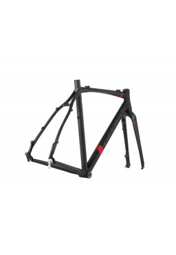 ACCENT ACCENT CX-ONE PRO DISC  SET Cyclocross Bike Frame black-red Size XS (50cm)