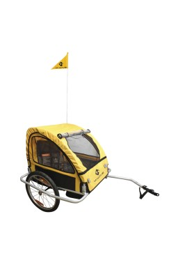 M-Wave STALWART KID EASY LIGHT Bicycle Trailer aluminum frame - Yellow