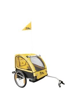 M-Wave STALWART 2 KID Full Suspension, 2 Seats Bicycle Trailer - Yellow