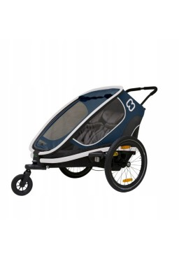 Hamax Outback Twin Bicycle Trailer - Navy Blue
