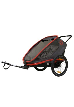 Hamax Outback 2in1 Bicycle Trailer - CharcoalRed/Charcoal