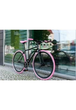 "Woo Hoo Bikes - PINK, 22"" - Fixed Gear Track Bicycle"
