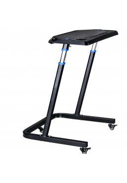 Adjustable laptop table for the trainer