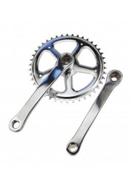 "Classic Bike Steel Crankset, Square Taper Chrome plated, 1/2 x 3/32"" 170mm 44T"