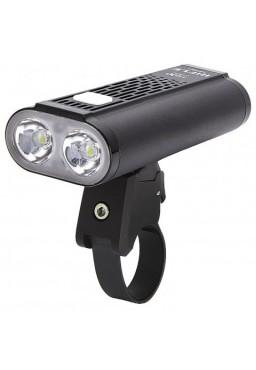 Front Bicycle Light Mactronic Rifle 1400 Lumens Black USB