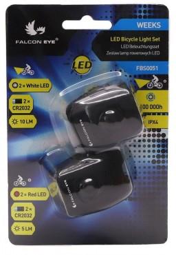 MACTRONIC Falcon Eye WEEKS Bicycle light Set 10lm/5lm