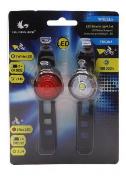 MACTRONIC Falcon Eye WHEELS Bicycle light Set 7lm/2lm