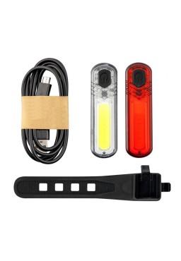 MACTRONIC  DUO SLIM, Bicycle light Set 60/18 lm USB