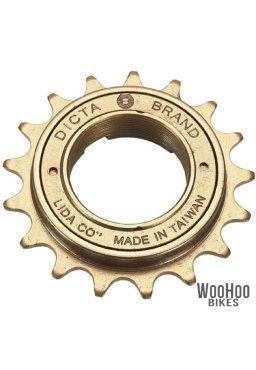 "Dicta A8K 18T Single Speed Freewheel 1/2"" x 1/8"" Wide - Bronze Fixie Bike Sprocket"