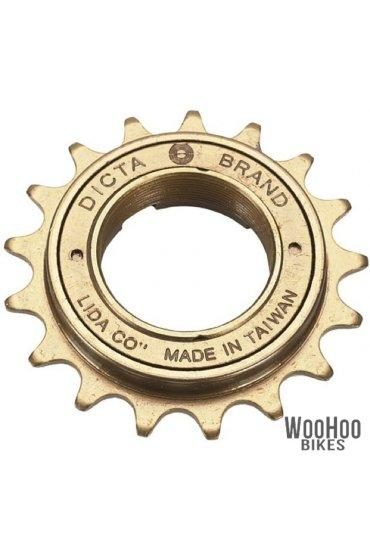 "Dicta A8K 16T Single Speed Freewheel 1/2"" x 1/8"" Wide - Bronze Fixie Bike Sprocket"