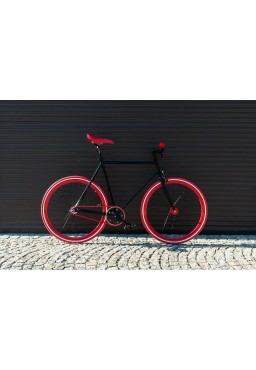 "Woo Hoo Bikes - RED 19"" - Fixed Gear Track Bicycle"