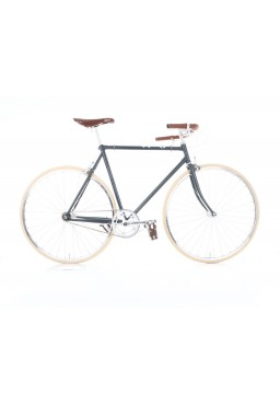 "Cheetah Prey – Cafe Racer 23"" Grey Bicycle"