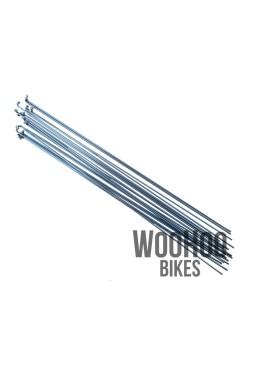 Pillar 266mm Stainless Steel Spokes, Silver 18pcs.