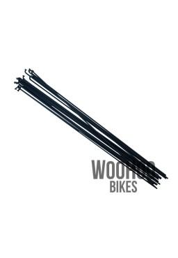 Pillar 258mm Stainless Steel Spokes, Black 18pcs.