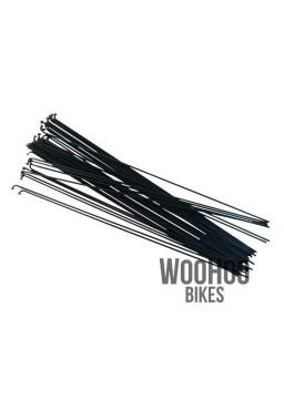 SLE Spokes 250mm Steel, Black 36pcs.