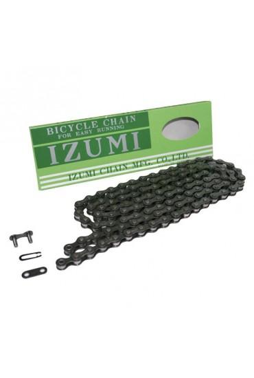 "IZUMI MASH JET BLACK 1//2/"" x 1//8"" Bike Wide Chain Single Speed Track BMX"