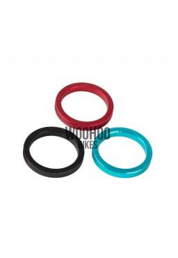 """ACCENT Headset Spacers 1-1/8"""" 5mm Alluminium Red"""