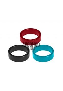 """ACCENT Headset Spacers 1-1/8"""" 10mm Alluminium Red"""
