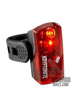 Rear Bicycle Light KRYPTONITE Avenue R-19 LED USB Charged Black Taillights