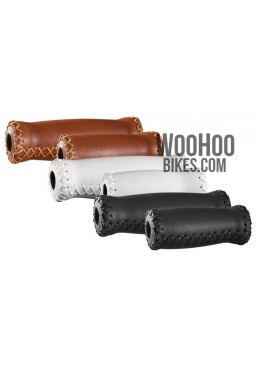 Velo Prox Bicycle Handlebar 127mm/92mm Retro Grips for Urban, Cruiser Bike - Brown