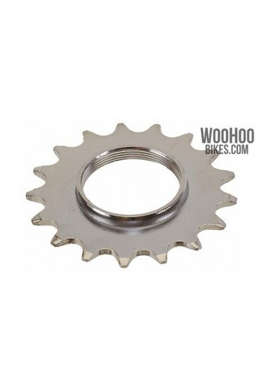 """JOYTECH Track Hub Cog 18T for 1/2 x 1/8"""" Wide Chain Fixed Gear Silver"""